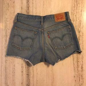 Levi's 501 Button Fly Denim Shorts